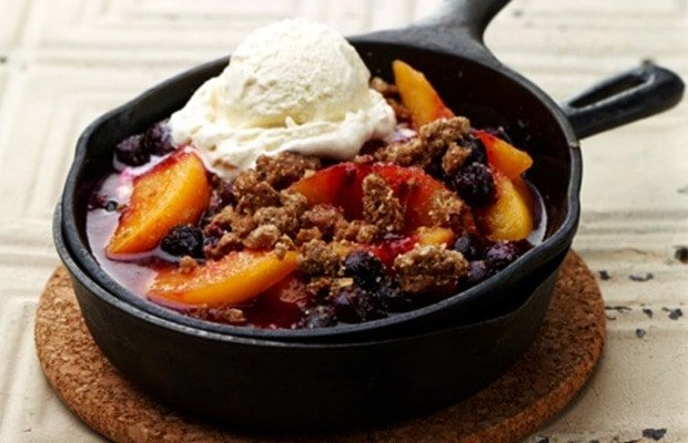 Farmers Fishers Bakers Peach-Blueberry Crisp